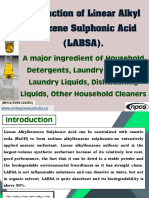 Production of Linear Alkyl Benzene Sulphonic Acid (LABSA)