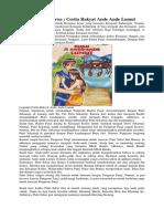 Kisah Legenda Jawa