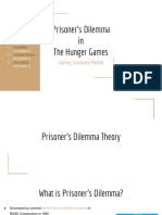 Prisoner's Dilemma in the Hunger Games