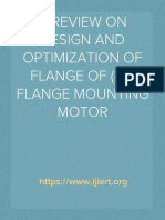 IJIERT-A REVIEW ON DESIGN AND OPTIMISATION OF FLANGE OF (B5) FLANGE MOUNTING MOTOR