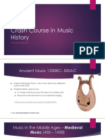 crash course in music history