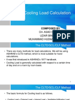 Cooling Load Calculation