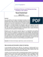 Innovation, Informational Literacy and Lifelong Learning - Creating a new Culture