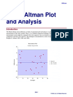 Bland-Altman Plot and Analysis