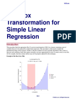 Box-Cox Transformation for Simple Linear Regression