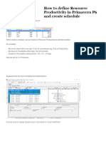 How to Define Resource Productivity in Primavera P6 and Create