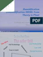 Humidification Dehumidification