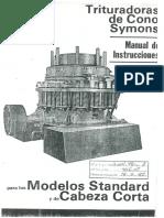 Trituradoras de Cono Symons - Manual de Instrucciones