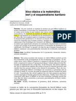 2009-De La Matemtica Clsica a La Matemtica Moderna Hilbert y El Esquematismo Kantiano.pdf
