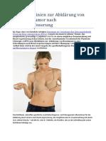 Neue Richtlinien Zur Abklärung Von Seltenem Tumor Nach Brustvergrösserung