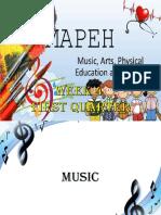 Mapeh – Week 4 First Quarter