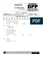 Class XI Physics DPP Set (04) - Mathematical Tools & Kinematics