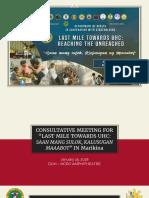 Consultative Meeting PPT - Last Mile Marikina