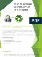 1.6 Recolección de Residuos Sólidos Urbanos y de Manejo
