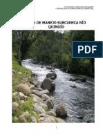 Plan de Manejo Subcuenca Rio Quindio 2011 Final Dic