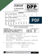 XI Maths DPP (05) - Basic Maths - Quadratic Equation - Sequence&Series.                                 We