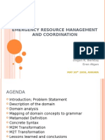 Emergency Resource Management and Coordination