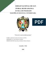 CRISIS UNIVERSIDAD PERUANA (monografía)