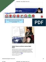 Rabbi Tzinner  and Chabad.info