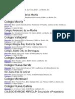 Colegios en Sinaloa