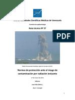 Normas de Protección Ante Riesgo de Contaminación Por Radiación Ionizante