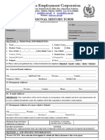 Personal History Form Oec