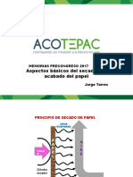 Aspectos Básicos Del Secado y El Cabado Del Papel - Ing. Jorge Torres