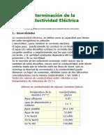 Determinación de La Conductividad Eléctrica