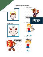 Adjetivos y Sustantivos Ingles y Español