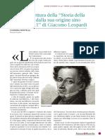 Invito Alla Lettura Della Storia Della Astronomia Di Giacomo Leopardi