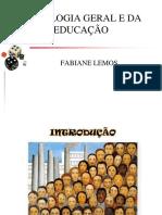 Sociologia Geral e Da Educação - Aula 1
