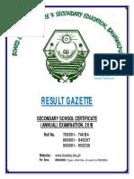 ownload BAHAWALPUR RESULT GAZETTE