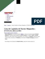 Lista de Capitulos de Naruto Shippuden - EVITA EL RELLENO