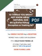"""Energy Factor Blog on """"NATURAL GAS"""" is a Fræcking Lie"""