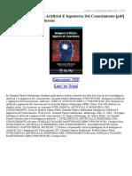 Inteligencia Artificial E Ingenieria Del Conocimiento