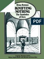Signifying Nothing the Semiotics of Zero