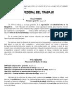 Resumen Ley Federal Del Trabajo