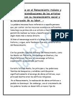 ElEl Mecenazgo en El Renacimiento Italiano(Pregunta Tema Alumnos)