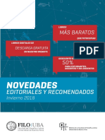 Novedades. Editoriales y recomendaciones. Invierno 2018.