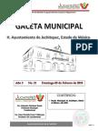 Bando Municipal Juchitepec 2018