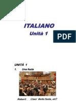 Italiano i Unità 1