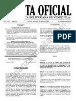 Gaceta Oficial Extraordinaria 6393 Feriado