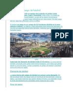 Partes de Un Campo de Béisbol
