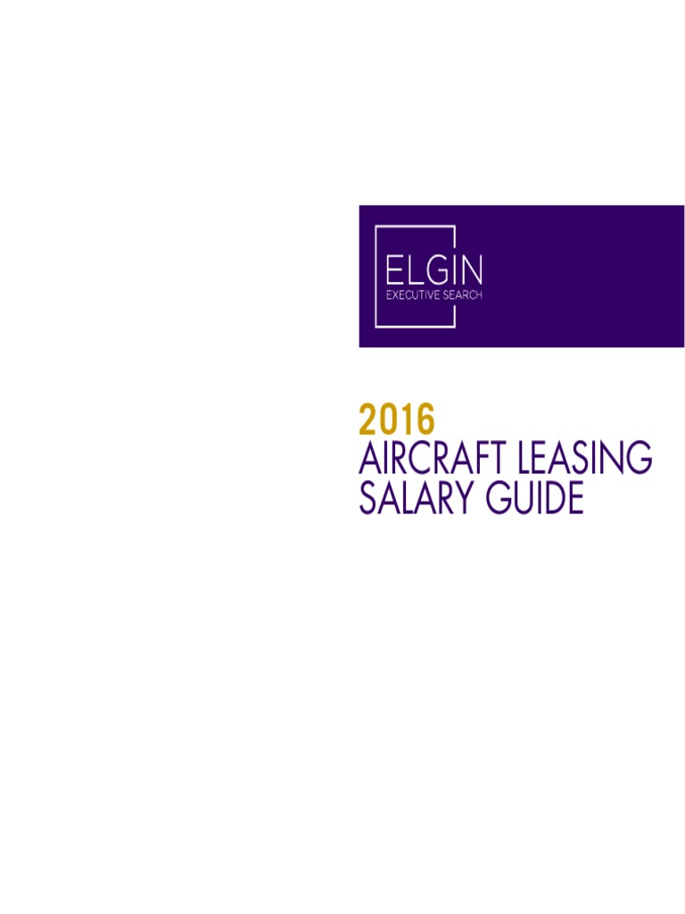 Aircraft Leasing Salary Guide 2016 | Pension | Salary