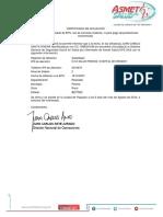 Certificado Salud