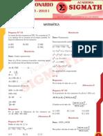 Solucionario Matematica UNASAM 2010 - I