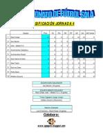Jornada 4 X Campeonato  de Fútbol Sala