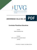Corrientes Filosóficas Educativas