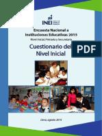 Cuestionario Del Nivel Inicial 2015