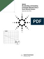 Agilent AN1364 S-parameter de-embedding